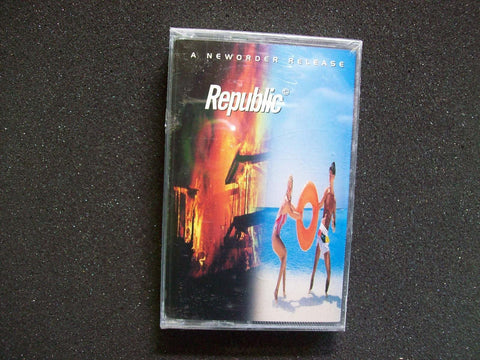New Order ‎– Republic SEALED 1993 Cassette Tape Post-Punk Synth-Pop w/ Regret - Post Punk Records