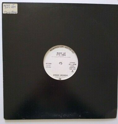 "Oingo Boingo ‎Wake Up (It's 1984) Vinyl 12"" Record Synth-Pop New Wave PROMO"