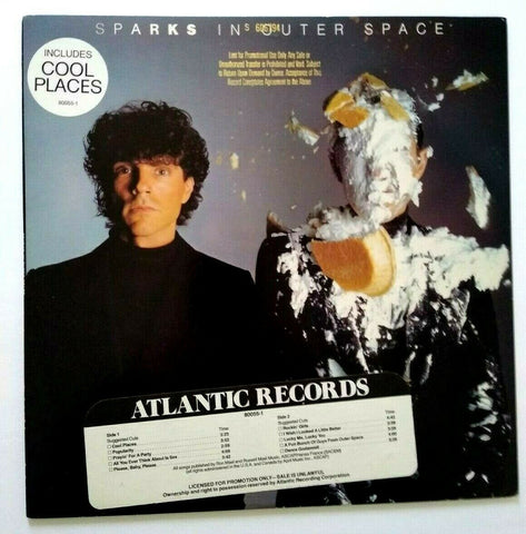 Sparks In Outer Space Vinyl LP Record Album PROMO New Wave Cool Place Hype 1983