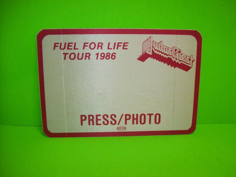 Judas Priest Back Stage Pass Original Otto 1986 Concert Tour Metal Memorabilia