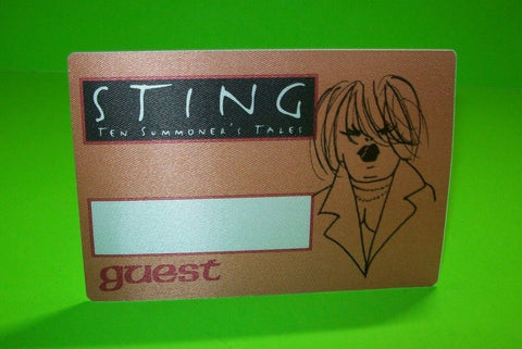 Sting Ten Summoner's Tales Backstage Pass Concert Tour Otto Original 1994 Police - Post Punk Records