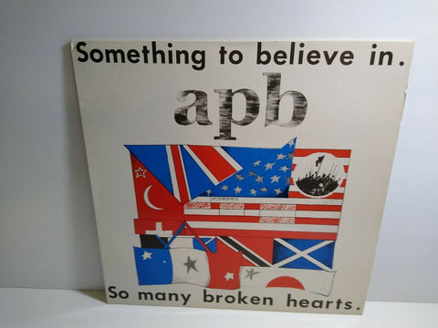 "APB Something To Believe In 12"" Vinyl Record 1985 UK Import Post-Punk New Wave"