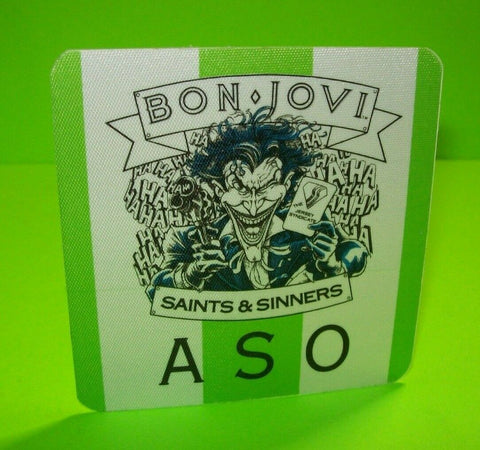 Bon Jovi New Jersey Tour Backstage Pass Batman The Joker Original 1989 Otto ASO