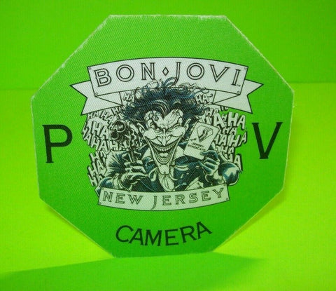 Bon Jovi New Jersey Tour Backstage Pass Batman The Joker Art Original 1989 Otto