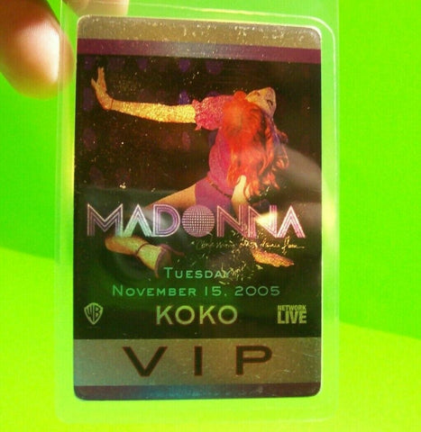 Madonna Confessions On The Dance Floor Backstage Pass Original 2005 Concert VIP - Post Punk Records