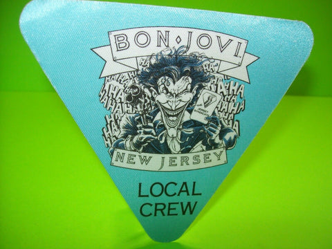 Bon Jovi New Jersey Tour Backstage Pass Batman The Joker Original 1989 Otto Crew