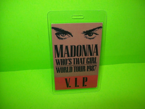 Madonna Who's That Girl Backstage Pass Original VIP Otto 1987 Concert Music Tour - Post Punk Records