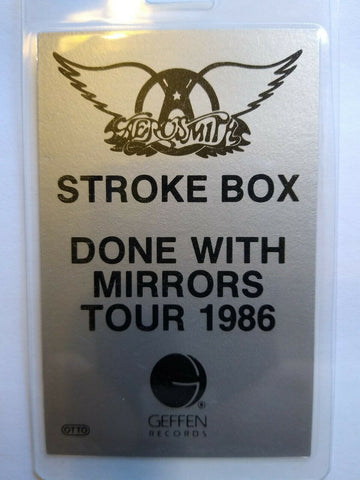 Aerosmith Done With Mirrors Backstage Concert Pass Original Hard Rock Stroke Box