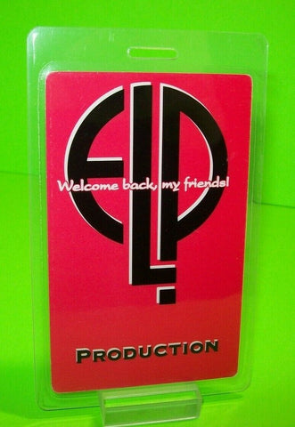 Emerson Lake And Palmer Back Stage Pass Welcome Back Original NOS Otto 1992 ELP - Post Punk Records