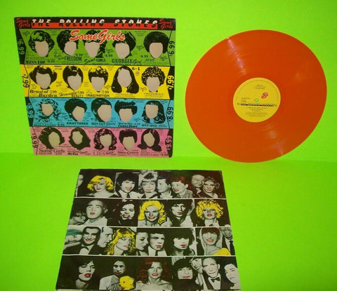 The Rolling Stones Some Girls Orange Colored Vinyl LP Record Album Holland 1978 - Post Punk Records