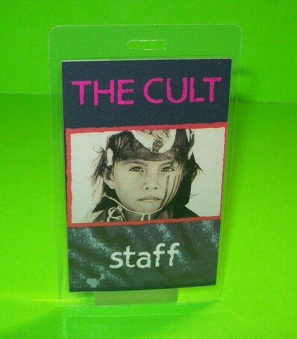The Cult Ceremony Backstage Pass Original Laminated Hard Rock Music Concert Tour - Post Punk Records