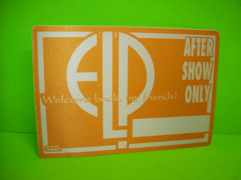 Emerson Lake And Palmer Back Stage Pass After Show Original NOS Otto 1992 ELP - Post Punk Records