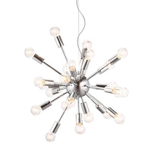 "22.6"" X 22.6"" X 21.5"" Chrome Ceiling Lamp"