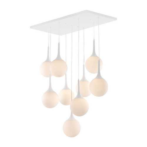 "35.4"" X 19.7"" X 86.6"" Frosted Glass Metal Ceiling Lamp"