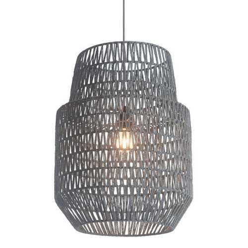 "17.7"" X 17.7"" X 23.6"" Synthetic Woven Metal Daydream Ceiling Lamp"