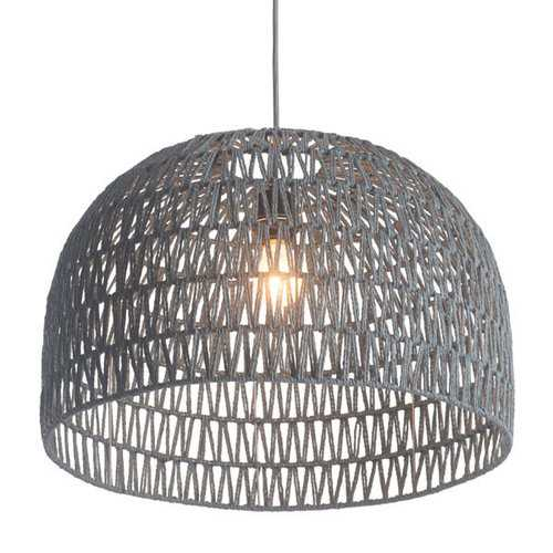 "21"" X 21"" X 13.8"" Synthetic Woven Metal Ceiling Lamp"