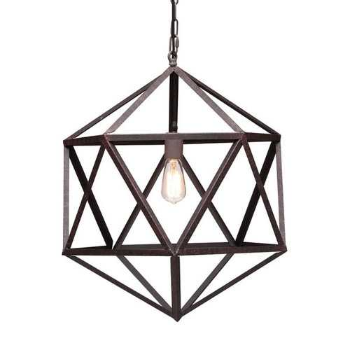 "21.3"" X 21.3"" X 80.7"" Small Metal Ceiling Lamp"