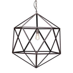 "30.7"" X 30.7"" X 90.5"" Large Rustic Metal Ceiling Lamp"