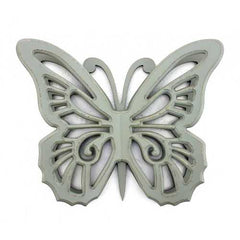 "18.5"" x 23"" x 4"" Gray, Rustic Butterfly, Wooden - Wall Decor"
