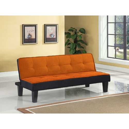 "66"" X 29"" X 28"" Orange Flannel Fabric Adjustable Couch"