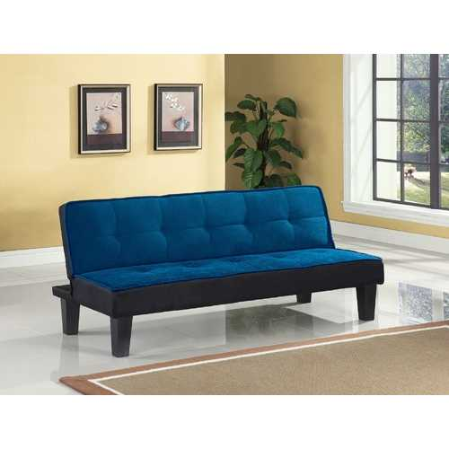"66"" X 29"" X 28"" Blue Flannel Fabric Adjustable Couch"