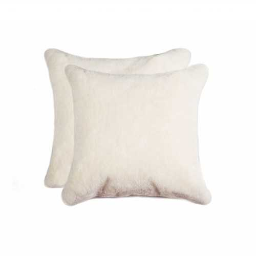 "18"" x 18"" x 5"" Natural Sheepskin - Pillow"