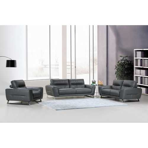 "102"" Lovely Dark Grey Couch Set"