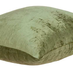 "22"" x 0.5"" x 22"" Transitional Olive Solid Pillow Cover"