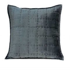 "20"" x 0.5"" x 20"" Transitional Charcoal Solid Quilted Pillow Cover"