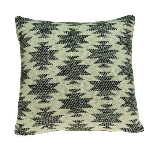 "20"" x 7"" x 20"" Elegant Southwest Tan Cotton Pillow Cover With Poly Insert"