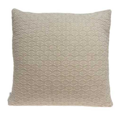 "20"" x 7"" x 20"" Decorative Transitional Tan Pillow Cover With Poly Insert"