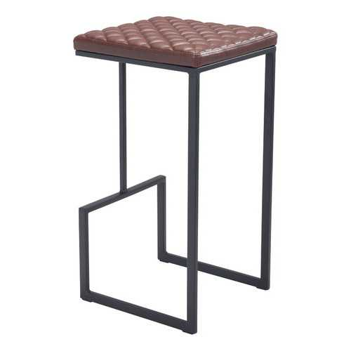 "15"" x 15.4"" x 29.5"" Brown, Leatherette, Steel & Plywood, Barstool"