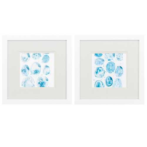 "11"" X 11"" Matte White Frame Bauble (Set of 2)"