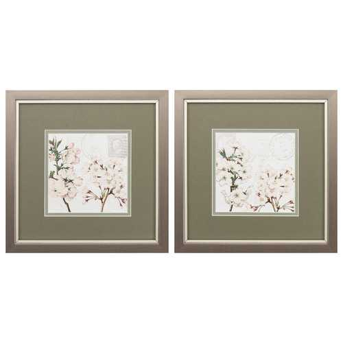"11"" X 11"" Metallic Bronze Frame Summer Song (Set of 2)"