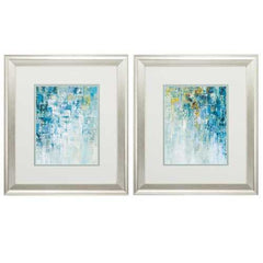 "16"" X 18"" Brushed Silver Frame Blue (Set of 2)"