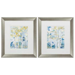"16"" X 18"" Brushed Silver Frame Gilded Forest Detail (Set of 2)"