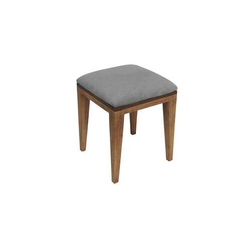 "14"" X 14"" X 17"" Metal Base Acacia Wood Stool"
