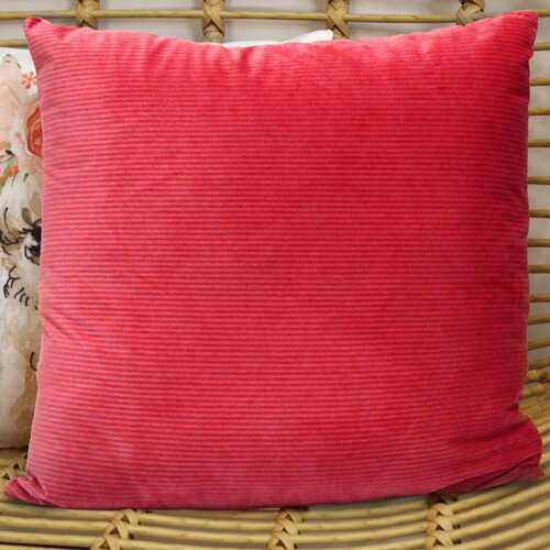 "18"" X 5.5"" X 18"" Coral Polyester Square Pillow"