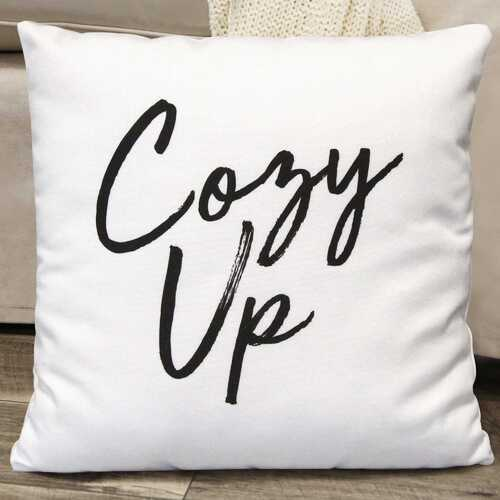 "18"" X 5.5"" X 18"" White Polyester Pillow"