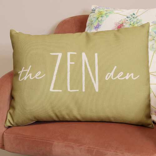 "20"" X 4"" X 14"" Olive Polyester Pillow"