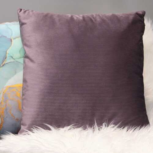 "18"" X 5.5"" X 18"" Mauve Polyester Square Pillow"