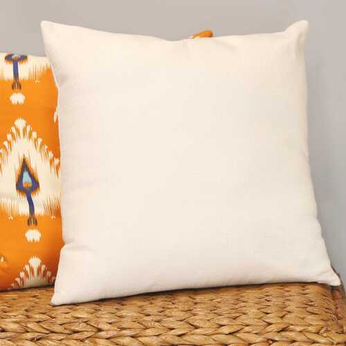 "18"" X 5.5"" X 18"" White Polyester Square Pillow"