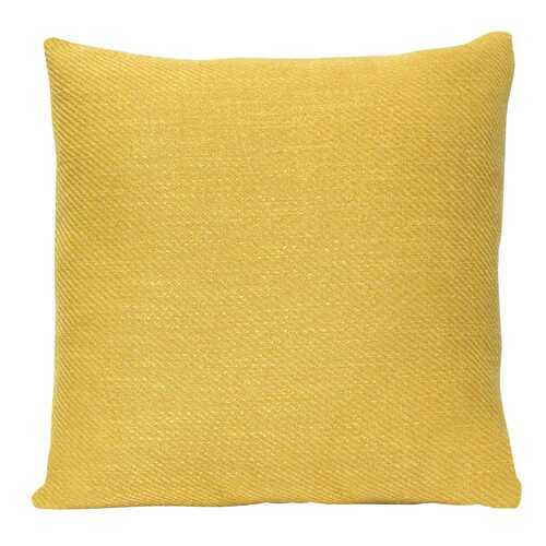 "18"" X 5.5"" X 18"" Mustard Polyester Square Pillow"
