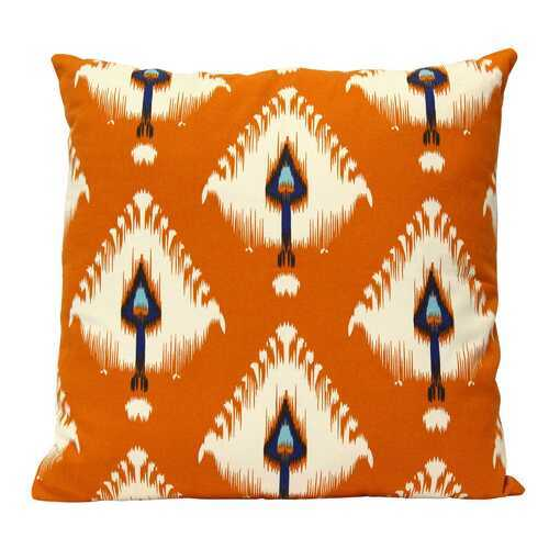 "18"" X 5.5"" X 18"" Orange Cotton Polyester Square Pillow"
