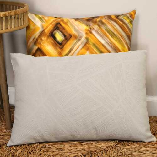 "20"" X 4"" X 14"" Grey Polyester Lumbar Pillow"