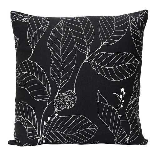 "18"" X 5.5"" X 18"" Black Cotton Polyester Square Pillow"