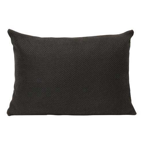 "20"" X 4"" X 14"" Black Cotton Polyester Lumbar Pillow"