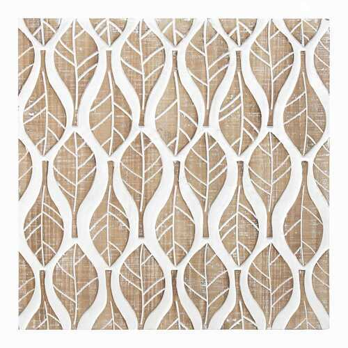 "15.75"" X 1.18"" X 15.75"" Natural White Mdf Veneer Wall Decor"
