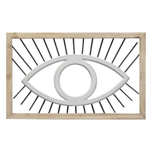 "20.08"" X 0.59"" X 12.5"" Natural White Wood Metal Mdf Wall Decor"
