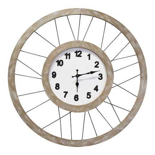 "28"" X 1.38"" X 28"" Natural Metal Mdf Clock Movement Wall Clock"